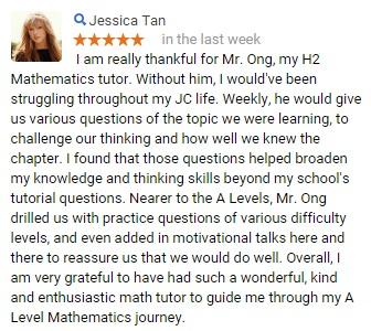 A-level/JC/H2/H1 Math/Maths/Mathematics @Kovan MRT/Hougang